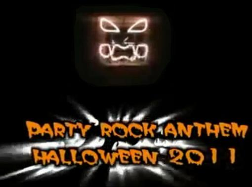 Классное световое шоу на доме под Party Rock Anthem