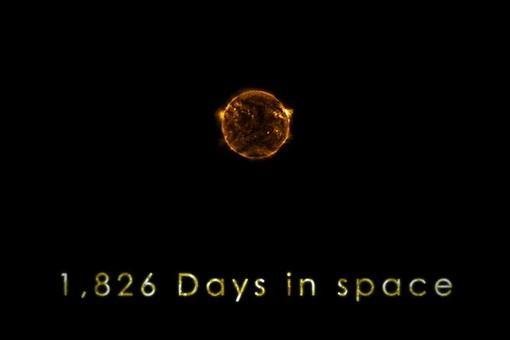 NASA опубликовало видеоролик 5 лет из жизни Солнца за несколько минут...