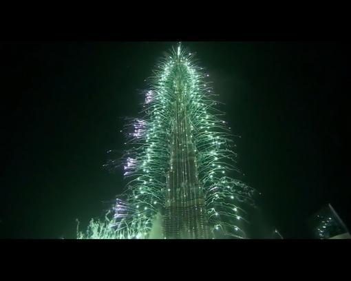 Новогодний салют в ОАЭ Дубай 2014