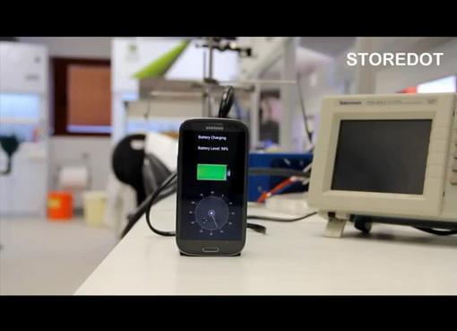 Полная перезарядка смартфонного аккумулятора менее 30 секунд