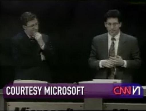 Презентация новой (в те времена) операционной системы Windows 98