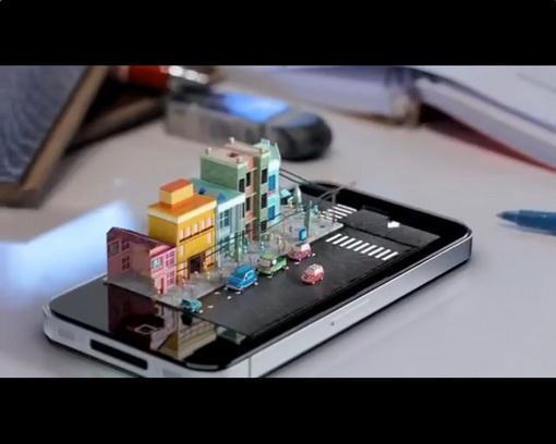 iPhone с 3D экраном
