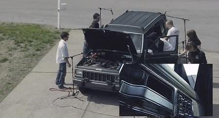 Автомобиль Jeep стал музыкальным инструментом.