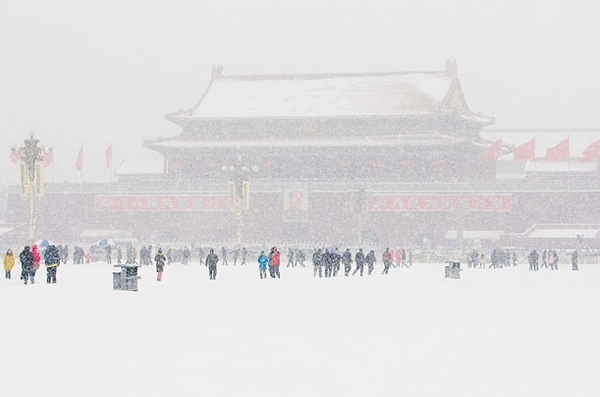 Рекордные снегопады в Азии ФОТО