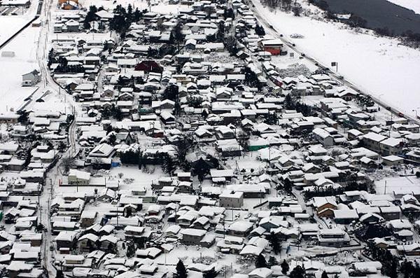 Рекордные снегопады в Азии. ФОТО