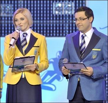 Украина провожает своих олимпийцев в Ванкувер.