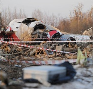 В России уверяет, что самолет Качиньского садился без разрешения