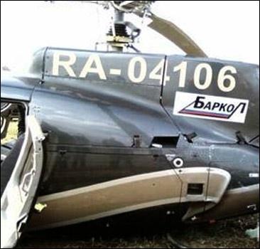 Около столицы разбился вертолет.