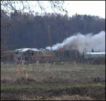 Дачу Ющенко подожгли газовой горелкой