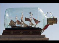 Создан самый большой в мире корабль в бутылке