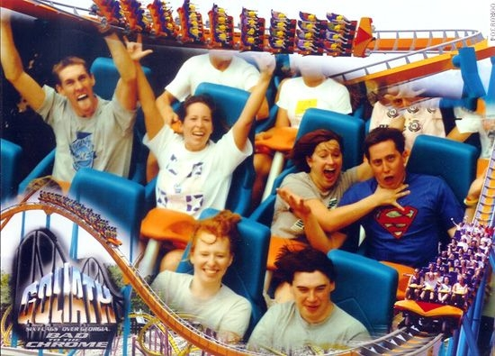Забавные лица людей на американских горках (25 фото)