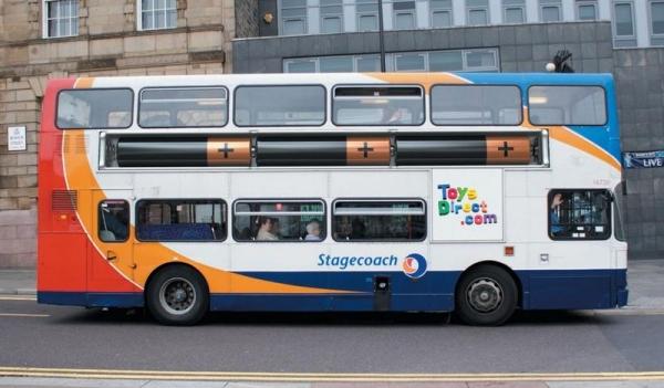 Креативная реклама на автобусах (58 фото+видео)