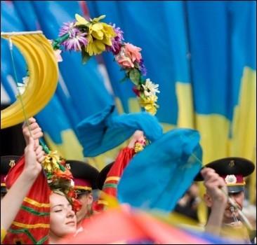Украинцы празднуют 19-ю годовщину Дня Независимости