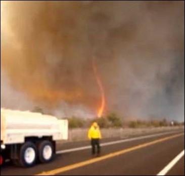 Огненный торнадо несется на Гавайи. ВИДЕОшок