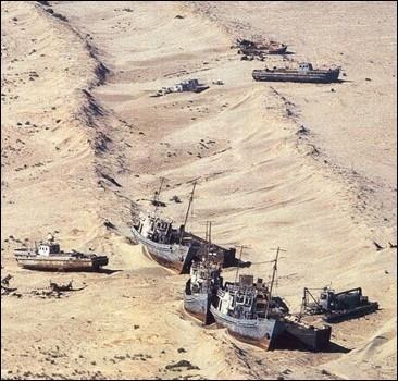 Море ушло, а корабли остались. Уникальные ФОТО
