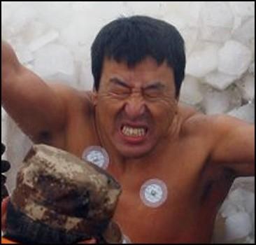 Человек во льду установил новый мировой рекорд.