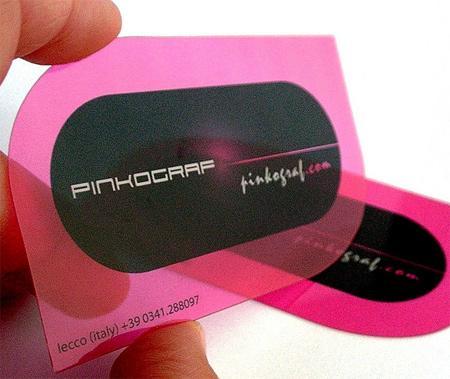30 уникальных примеров прозрачных визитных карточек