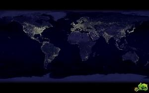 Земля ночью из космоса. 2010 год.