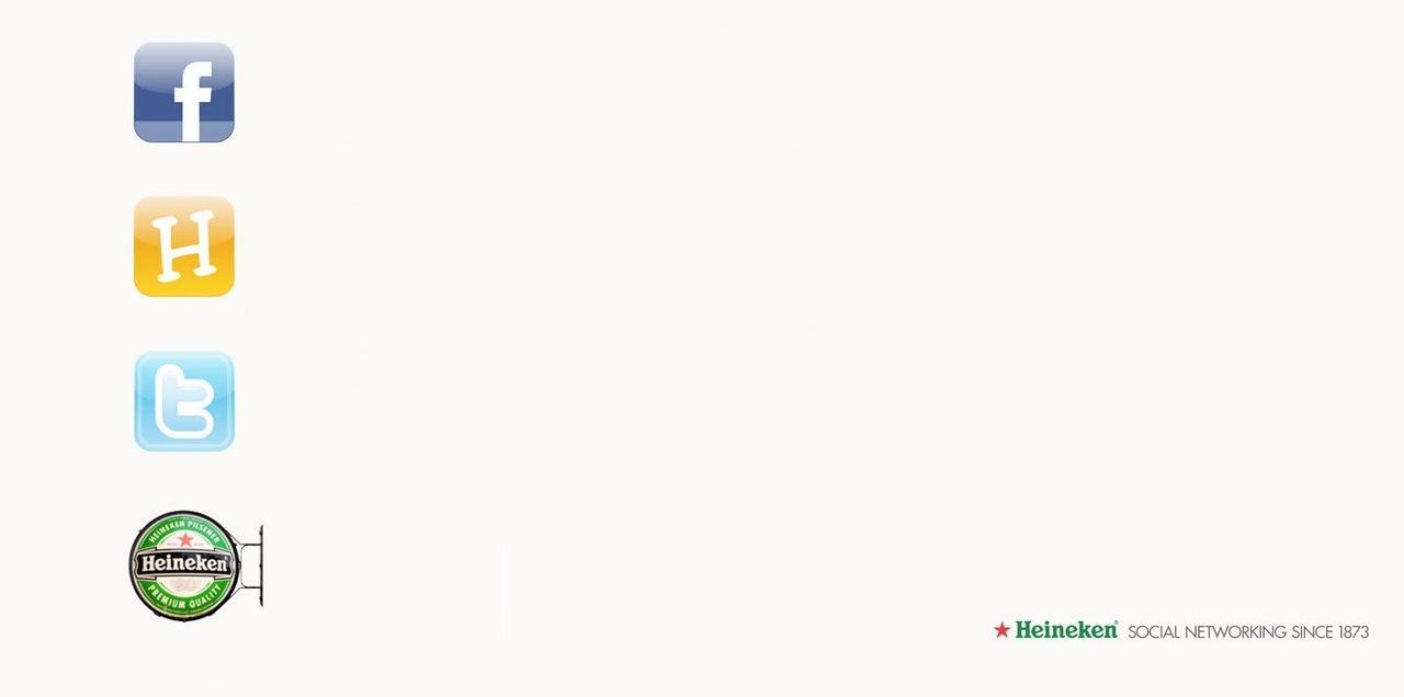 """Heineken: """"Социальная сеть с 1873 года"""""""