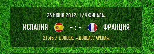 1/4 финала - Накануне: Испания - Франция