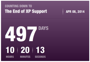 Windows XP потеряет поддержку через 497 дней