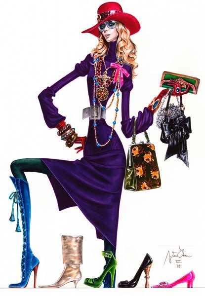 Иллюстратор моды Arturo Elena (30 фото)