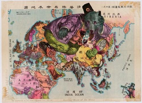 Японская карта времен Первой мировой войны, 1914-1918 гг.