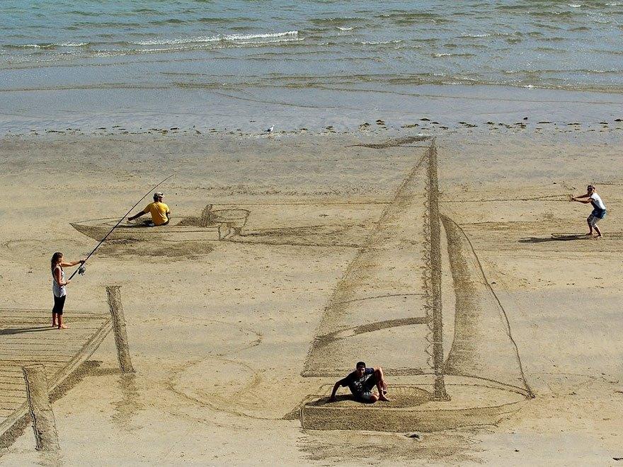 Галлюциногенный 3D пляж от Джейми Харкинса