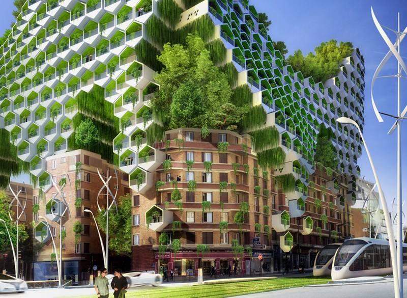 Vincent Callebaut видение Парижа как «Умный город» в 2050 году